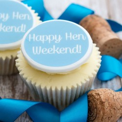 Personalised Happy Hen Weekend Cupcake Toppers (Pack of 12)