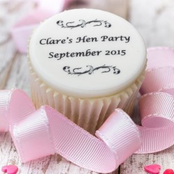 Personalised Hen Party Cupcake Toppers (Pack of 12)