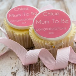 Personalised Mum To Be Cupcake Toppers (Pack of 12)