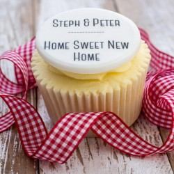 Personalised New Home Cupcake Toppers (Pack of 12)