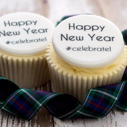 Personalised New Year Cupcake Toppers (Pack of 12)