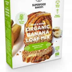Organic Rise & Shine Banana Loaf Mix: Organic, Gluten Free, Dairy Free, Vegan Friendly Banana Loaf Baking Mix (Makes 1 loaf)