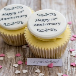 Personalised Anniversary Cupcake Decorations (Pack of 12)