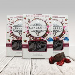 Set of 3 Cartons - Dark Chocolate Cranberry Rocky Road Chocolates