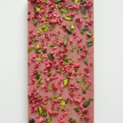 Handmade Ruby Chocolate Bar with Pistachios and Raspberries (Set of 3)
