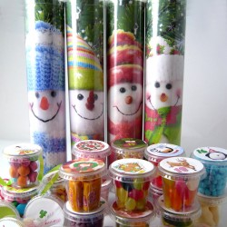 Snowmen Advent Calendar with Lots of Pots of Retro Sweets