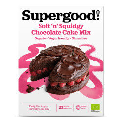 Soft 'n' Squidgy Chocolate Cake Mix: Gluten Free, Dairy Free, Vegan Friendly and Deliciously All-Natural Cake Mix (Makes 1 Cake)