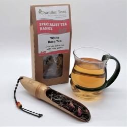 White Rose Tea Loose Leaf Tea, White Peony with Rose Tea, 30g Retail Box