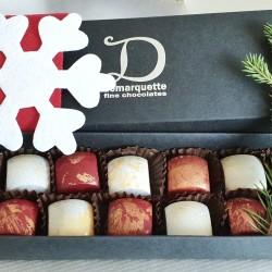 12 Festive Caramel Chocolates