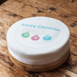 Personalised Christmas Bauble Cake Topper