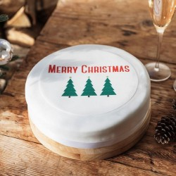 Personalised Christmas Tree Cake Topper
