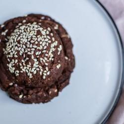 Vegan Tahini, Chocolate & Sesame Cookies (Box of 6)