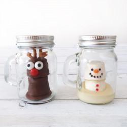 Mini Melting Snowman & Reindeer Hot Chocolates