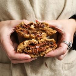 Vegan Hazelnut Double Chocolate Cookies (Box of 6)