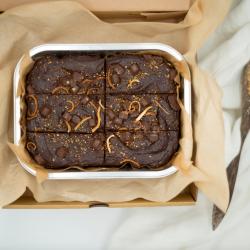 Chocolate Orange Brownies | Gluten Free, Vegan & Refined Sugar Free