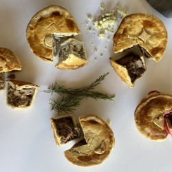 Selection of Handmade Small Pies (6 Pies)