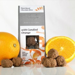 Candied Orange Plant Based Chocolate Bites