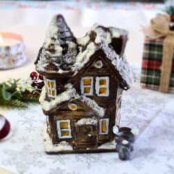 Handmade Belgian Dark Chocolate Snowy House
