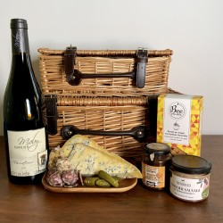 Classic French Gift Hamper With Red Wine