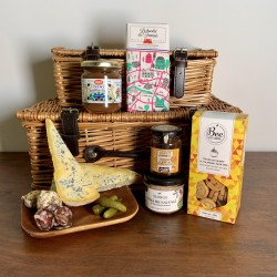"""Deluxe French Gift Hamper With 14"""" Wicker Basket"""