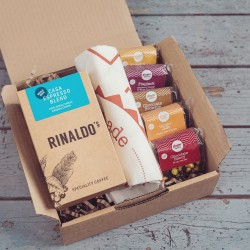 Speciality Coffee, Cake & Tea Towel Gift Box