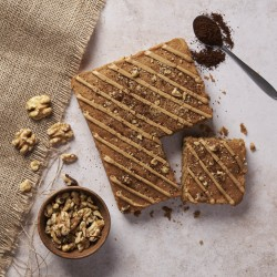 Coffee and Walnut Letterbox Cake