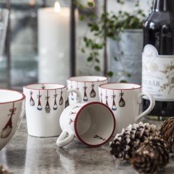 Mugs on a Christmas Table