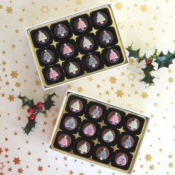 Tiny Trees! - Personalised Christmas Chocolates decorated with Christmas trees