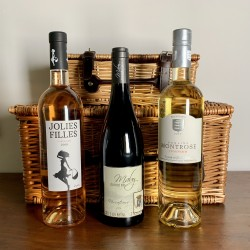 "French Wine Gift Hamper in 16"" Wicker Basket"