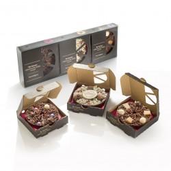 Mini Christmas Chocolate Pizza Gift Pack