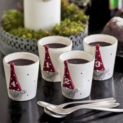 Cup/Candle Holders in Santa Hugo Swedish design
