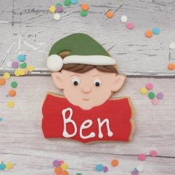 Personalised Elf themed Christmas cookie favour