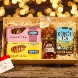 Christmas Favourites Sweet Treats Gift Hamper with Dorset Honey and Clotted Cream Fudge