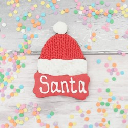 Personalised Santa Hat Cookie | Cookie for Santa on Christmas Eve