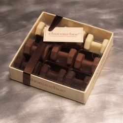 Chocolate Dumbbells