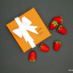 Handmade Marzipan Strawberries Gift Box