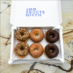 Keto Donuts | The Dairy Free Selection (Box of 6) | Keto, No Refined Sugar, Gluten-free
