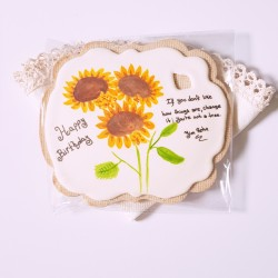 Personalised Giant Sunflower Vegan Cookie