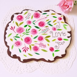 Giant Roses Cookie
