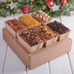Hand Decorated Classic Christmas Sponge Selection (6 cakes)