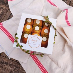 Lemon Lime & Orange Blossom With Pistachio Madeleines (Box of 9)