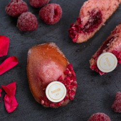 Rose & Raspberry Madeleines (Box of 9)