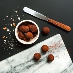 Spiced Hazelnut Truffles - vegan + gluten free