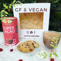 Super Cacao Cookies and Cup Luxury Vegan & GF Hot Chocolate Gift Box