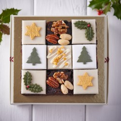 Hand Decorated Christmas Luxury Fruit Selection (9 Mini Cakes)