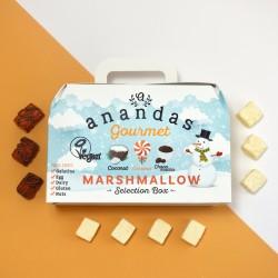 Festive Gourmet Vegan Marshmallow Gift Box - Coconut, Caramel & Choca Mocha