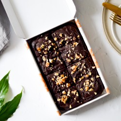 Double Chocolate Avocado Brownies | Vegan & Refined Sugar Free (Box of 8)