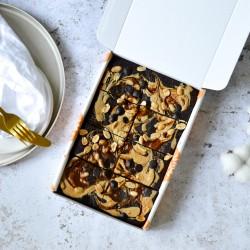 Salted Caramel & Peanut Brownies | Vegan & Refined Sugar Free (Box of 8)