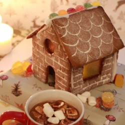 DIY Gingerbread House and Hot Chocolate Festive Baking Kit