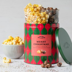 Merry Christmas Gourmet Popcorn Gifting Tin